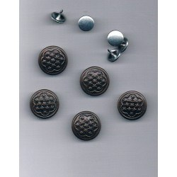 Jeans Snap on buttons 15mm bronze black (5 pieces)