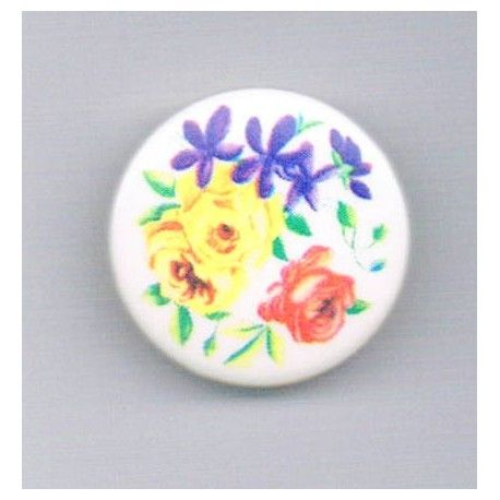 Decorative button, 22mm, tea rose