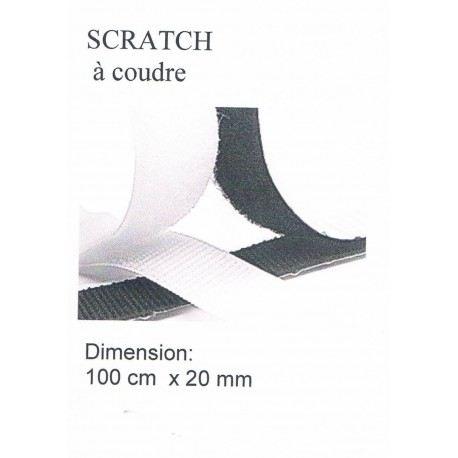 Scratch à coudre BLANC