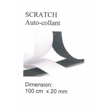 Scratch auto-collant BLANC