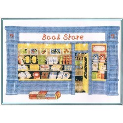 The book store 22x15cm counted Cross stitch kit