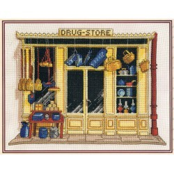 The drug store 23x17cm Counted cross stitch Kit