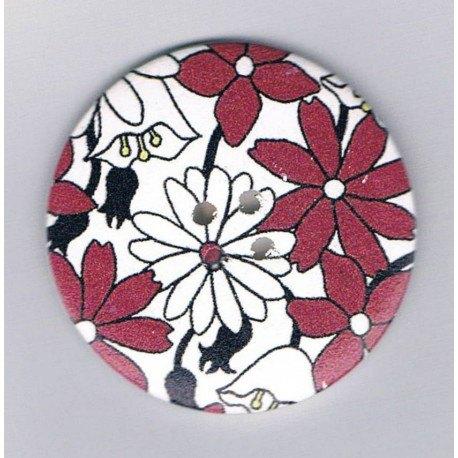 Decorative button 50mm, flowers