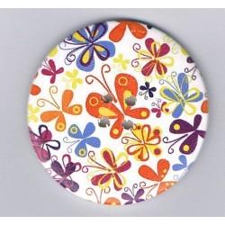Bouton décoratif 50mm, papillons