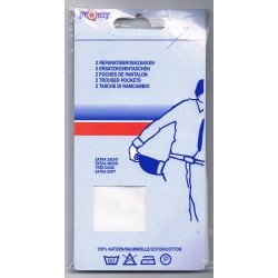 Sew-on trouser pockets (2) white