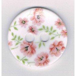 Bouton décoratif 44mm, roses