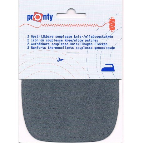 Iron-on knee patches (2) grey