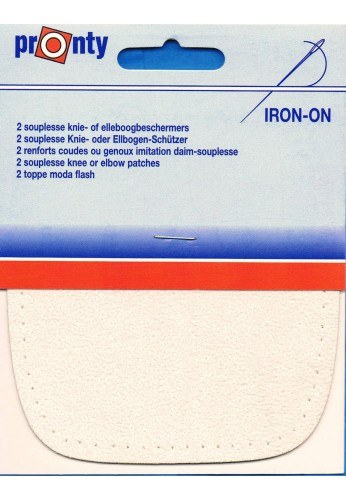 Iron-on knee patches (2) off white