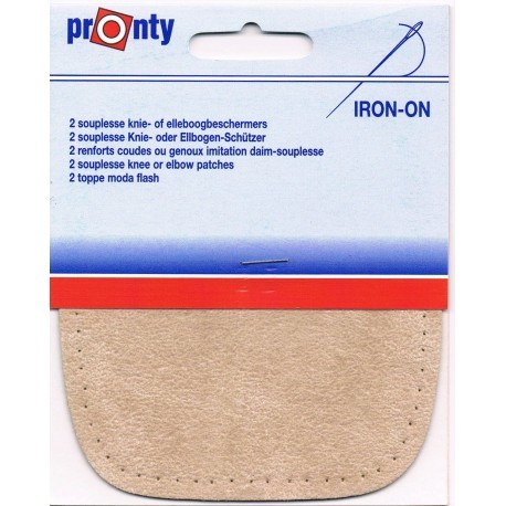 Iron-on knee patches (2) beige