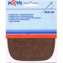 Iron-on knee patches (2) brown