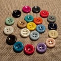 Button 11mm 4-holes